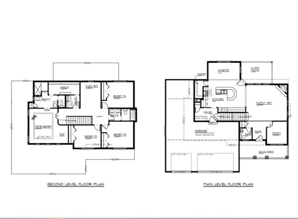 2 story custom home floorplan Omaha